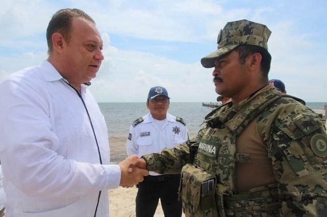 Conmemoran el Día de la Marina en Punta Herrero, Felipe Carrillo Puerto