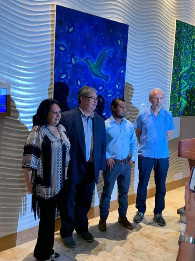 Jorge Alberto Hernandez expone en Art Gallery Cancun Mandarina