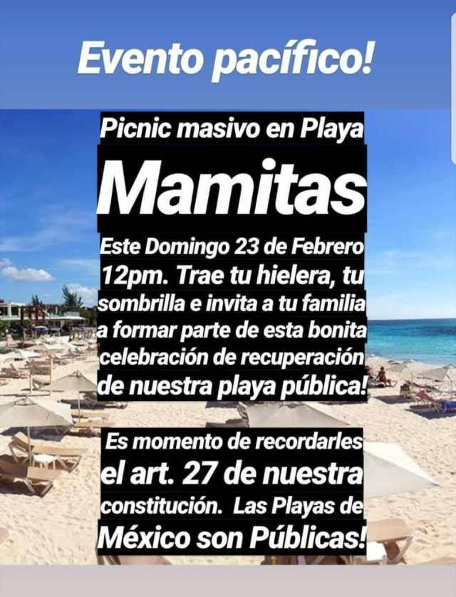El pic-nic en Mamitas tendrá todo el apoyo de la Zofemat