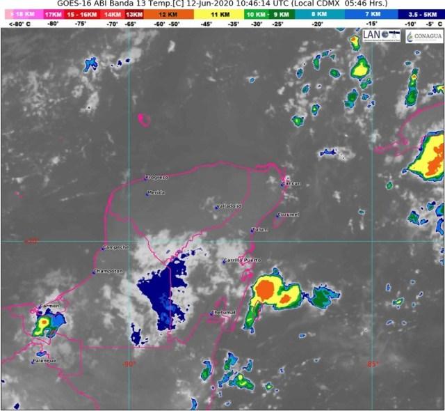 Boletín Meteorológico Quintana Roo para el 12 de Junio