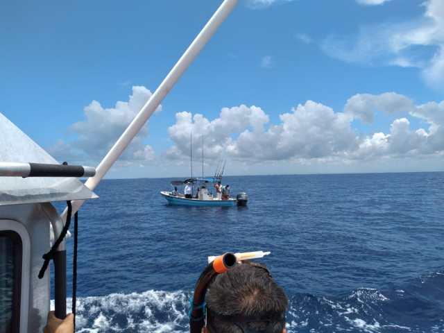 Secretaría de Marina rescata a seis personas a la deriva en Cozumel