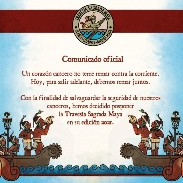 Grupo Xcaret pospone la realización de la Travesía Sagrada Maya 2021 @Grupo_Xcaret
