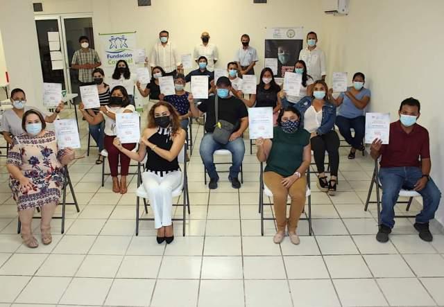 Fundación Cozumel concluyó proyecto para transformar microempresas en época de contingencia