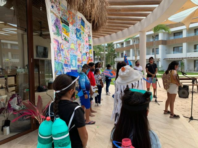 Fundación Eco-Bahía colabora en el primer festival del SAM (Sistema Arrecifal Mesoamericano), organizado por el Centro Ecológico Akumal (CEA) y la Biblioteca Hekab Be del Poblado de Akumal