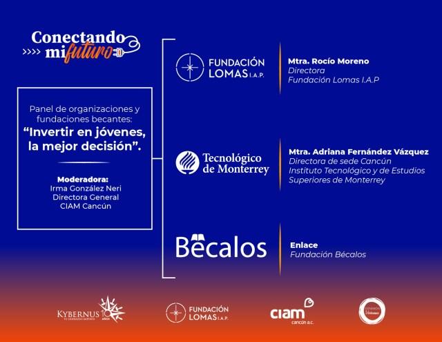 Organizaciones civiles unen esfuerzos en un foro virtual para acercar oportunidades educativas a las juventudes de Cancún