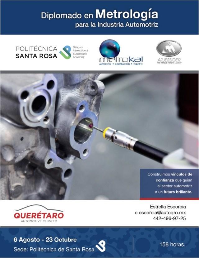 Impartirán Diplomado en Metrología para la Industria Automotriz en Querétaro