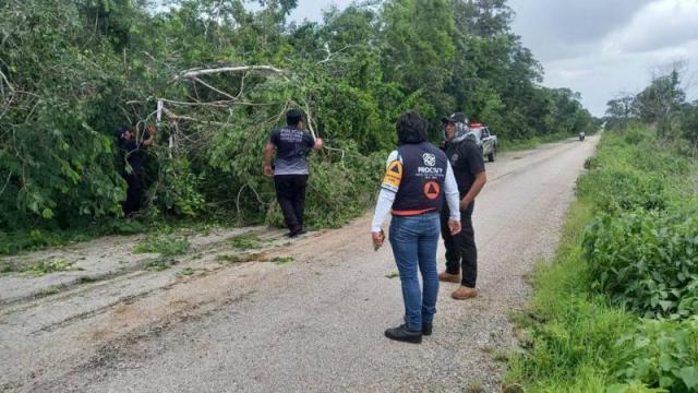 """Continúan en Yucatán labores de apoyo a comunidades afectadas por """"Grace"""""""