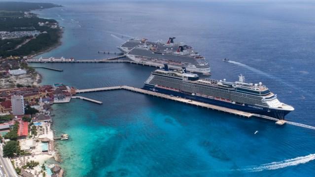 Llegarán a Cozumel 9 cruceros esta semana