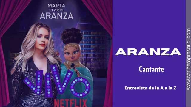"""La reina de la canción de telenovela, Aranza, en entrevista """"De la A a la Z"""" @AranzaOficial"""