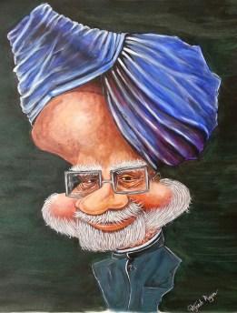 Manmohan Singh Caricature