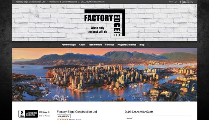Factory Edge - WordPress Website Design