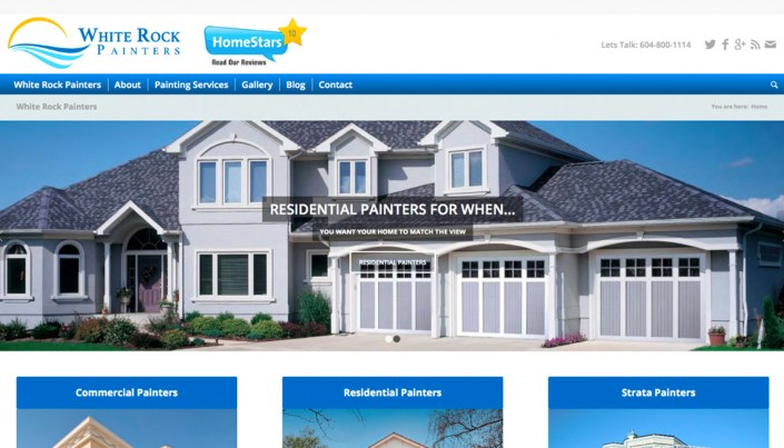 White Rock Painters - WordPress Website Design