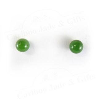 BC nephrite jade bead 14kt earring
