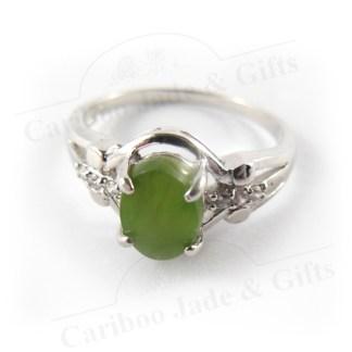 Jade sterling silver ring