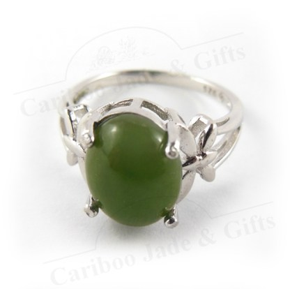 BC Nephrite Jade Sterling Silver ring