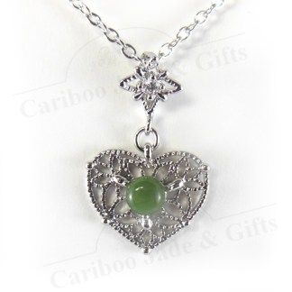 bc Jade lace heart necklace