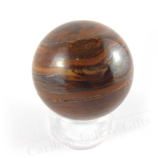 tiger iron stone sphere