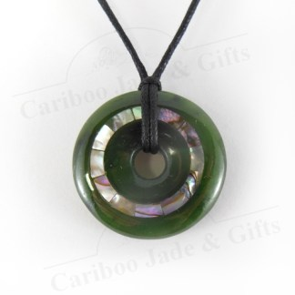 jade disc with abalone