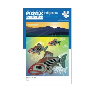 indigenous puzzle Salmon Run by Mark Preston