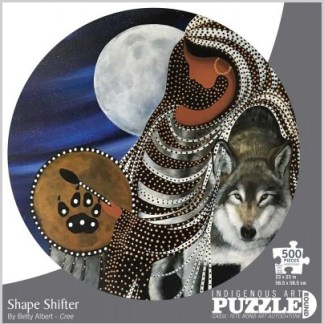 """round puzzle """"Shape shifter"""" by Betty Albert"""