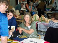 Connie & Celine Hard at work at the CMA table :)