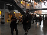 Mr. James Douglas being escorted in by CMA Security!