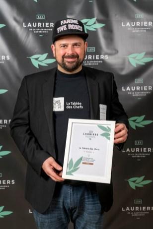 Jean-François Archambault, directeur général et fondateur de La Tablée des Chefs, qui est nommée dans la catégorie Entreprise ou initiative de l'année en alimentation.
