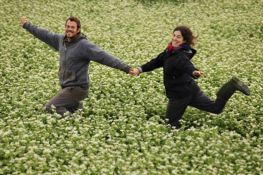 François D'Aoust et Mélina Plante de la ferme Les Bontés de la Vallée