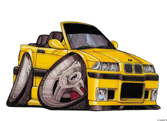 BMW M3 Cabriolet Jaune