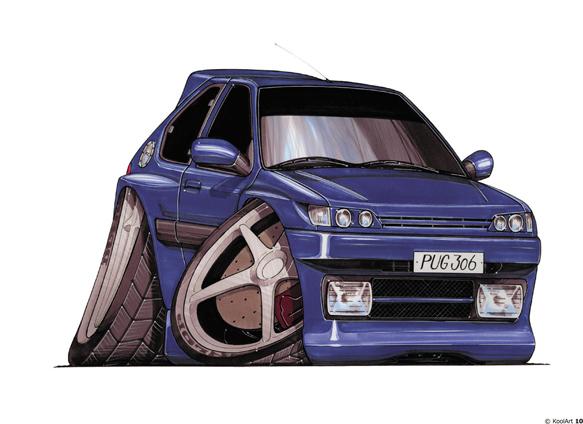 Peugeot 306 Bleue