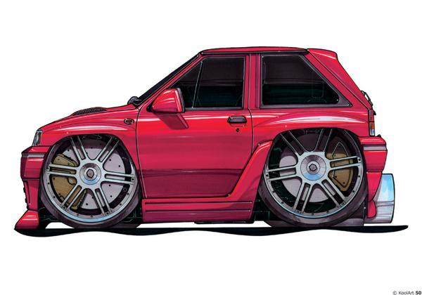 Opel Corsa Tunning Rouge