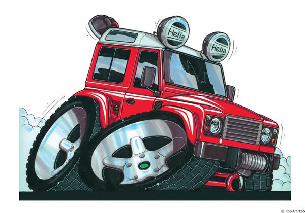 Land Rover Defender 4X4 Rouge