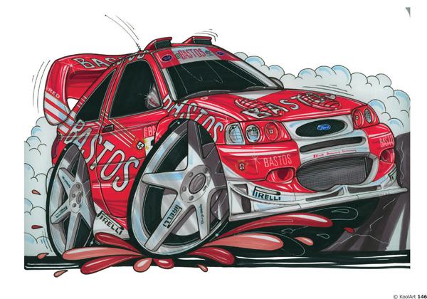 Ford Escort rallyeeee Rouge