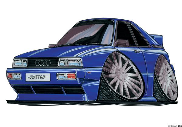 Audi Quattro Bleue