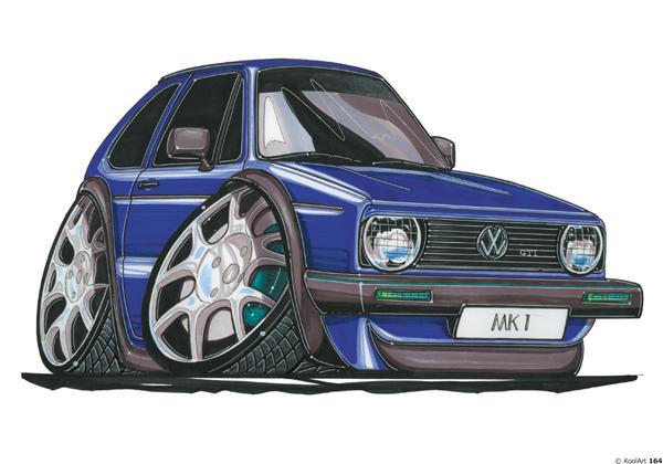 Volkswagen Golf GTI Bleue