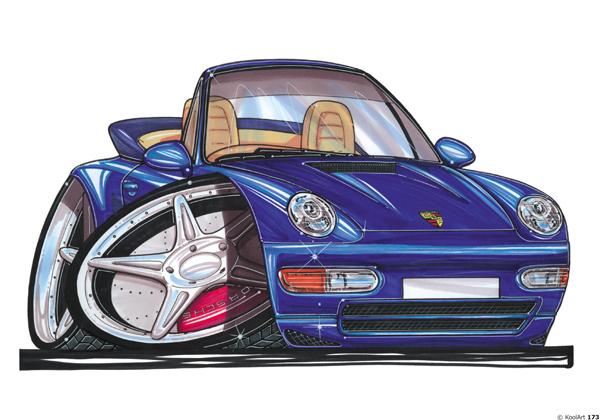 Porsche 911 Cabriolet Bleue