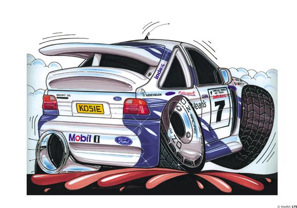 Ford Escort Cosworth Blanche