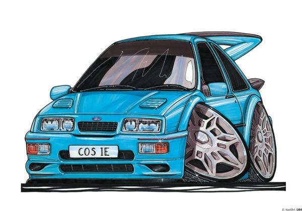 Ford Sierra Cosworth Bleue