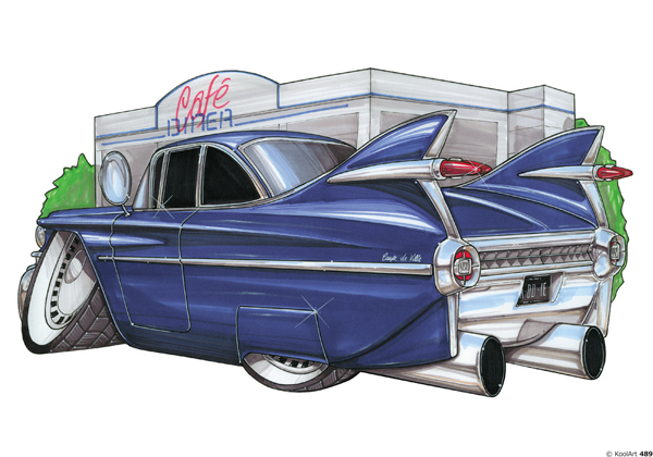 Cadillac Bleue