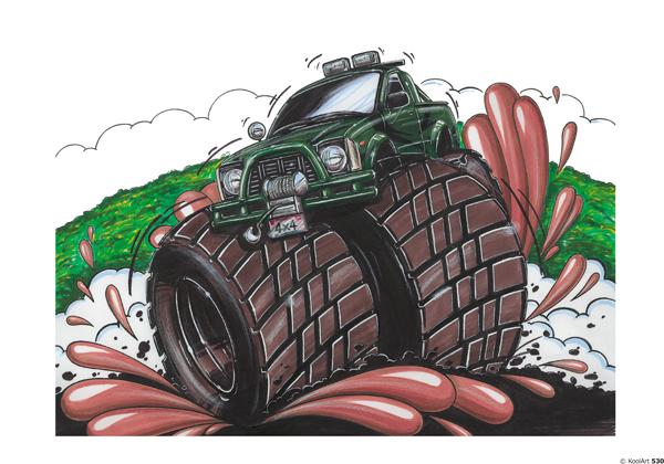 Toyota Hilux 4X4 Monster Vert