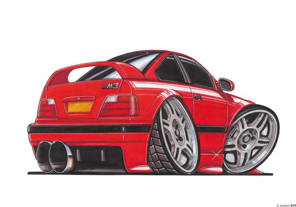 BMW M3 E36 Rouge