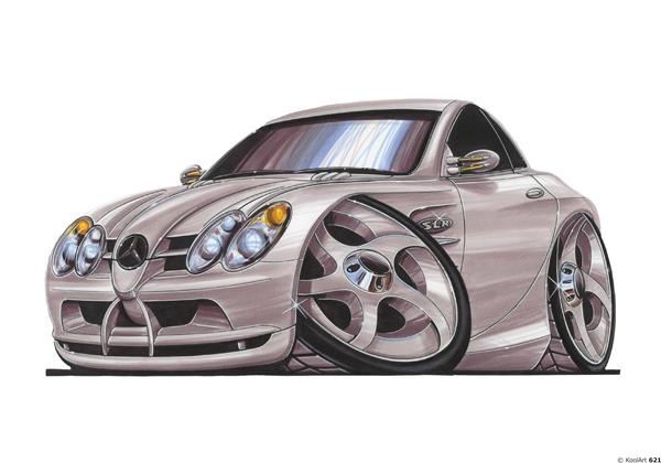 Mercedes SLR Grise