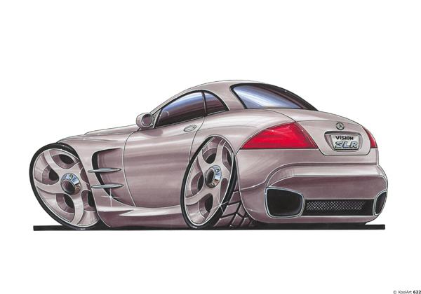 Mercedes SLR Arriere Grise