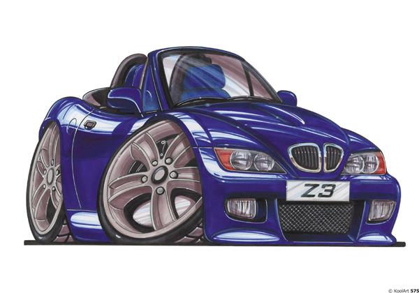 BMW Z3 Bleue