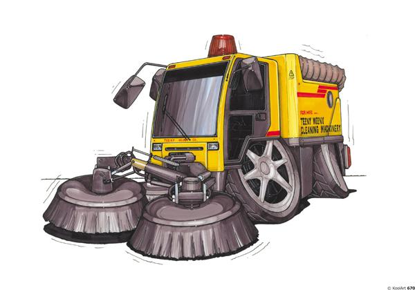 Camion Balayage Jaune