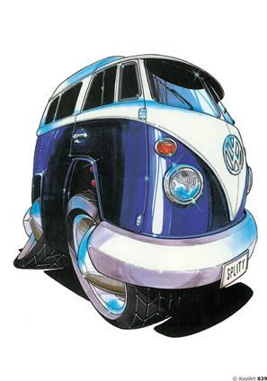 Volkswagen Combi Bleu