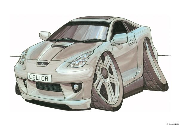 Toyota Celica Grise