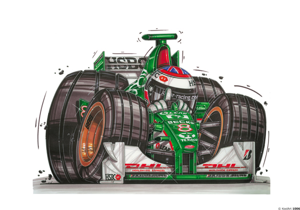 Formule 1 Jaguar Verte