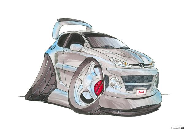 Peugeot 206 Grise