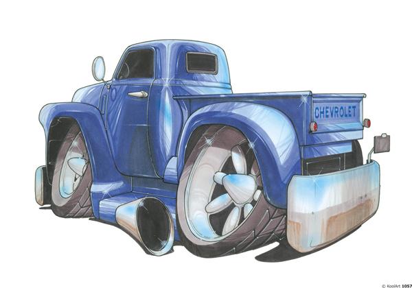 Chevrolet Pickup Bleu